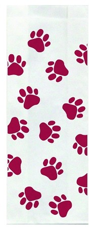 Veterinary Stock Maroon Design Large Flat Bottom Bags