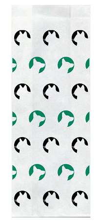Veterinary Stock Green & Black Design Large Flat Bottom Bags