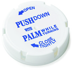 White 13/16 dram Child Resistant Caps for Friendly & Safe Vials